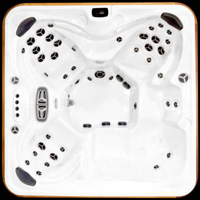 Arctic Spas top view of the Summit legend model