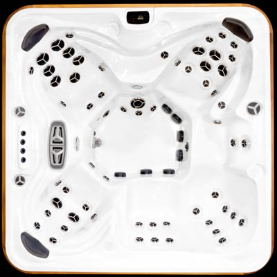 Arctic Spas top view of the Summit SDS model